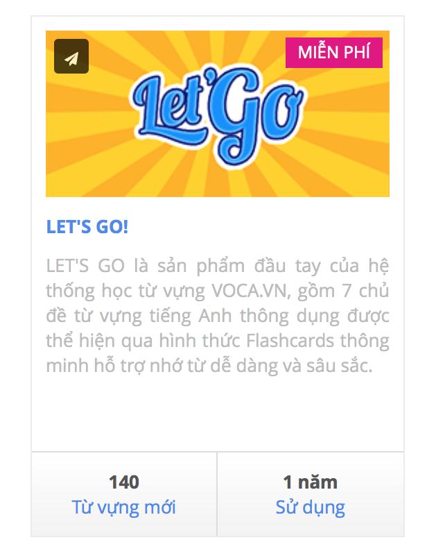 Let's Go: Bộ từ vựng tiếng Anh miễn phí trên VOCA